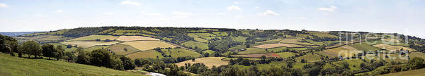 Agricultural Poster featuring the photograph English Countryside Panorama by Jane Rix