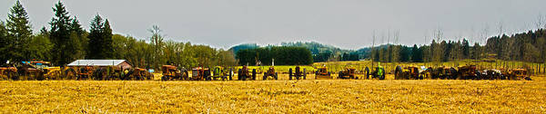 Farm Poster featuring the photograph Tractors Ready by Dale Stillman