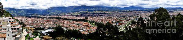Al Bourassa Poster featuring the photograph Cuenca And Turi Panorama by Al Bourassa