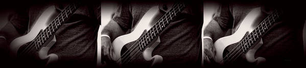 Fender Poster featuring the photograph Fender Bass by Bob Orsillo