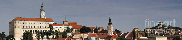 Mikulov Poster featuring the photograph panorama - Mikulov castle by Michal Boubin