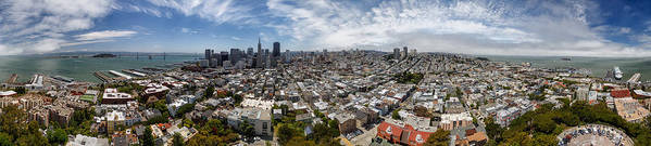 3scape Photos Poster featuring the photograph San Francisco Daytime Panoramic by Adam Romanowicz