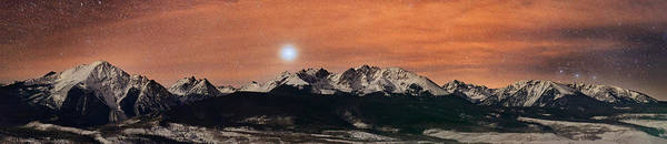 All Rights Reserved Poster featuring the photograph Sirius Diffusion Over The Gore Range by Mike Berenson