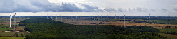 Wind Farm Poster featuring the photograph Wind Energy Panorama by Jim Finch