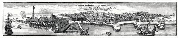 New York Poster featuring the photograph Dutch Recapture Of New York, 1673 by Cci Archives