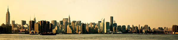Panorama Poster featuring the photograph New York City Skyline Panorama by Vivienne Gucwa
