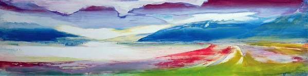 Landscape Poster featuring the painting Abstract Composition by Lou Gibbs