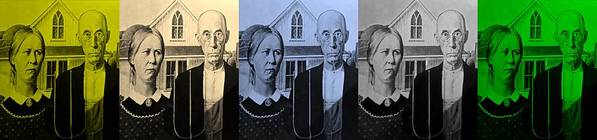 Americana Poster featuring the photograph American Gothic In Colors by Rob Hans