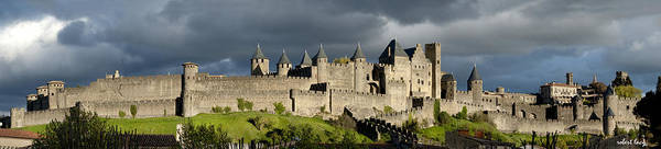 Carcassonne Poster featuring the photograph Carcassonne Panorama by Robert Lacy
