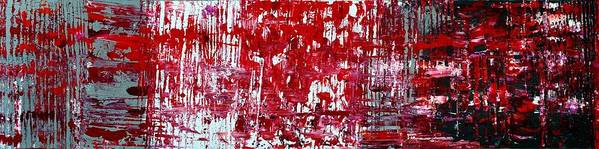 Red Paintings Poster featuring the painting Red Grey White And Black by Martina Niederhauser