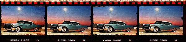 Cadillac Poster featuring the digital art 4 X 1958 by Scott T