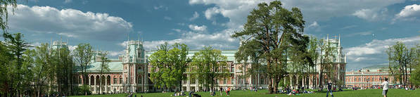 Panorama Poster featuring the photograph Panorama Of The Museum-estate Tsaritsyno by Lery Solo