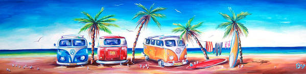 Kombi Poster featuring the painting Kombi Club by Deb Broughton