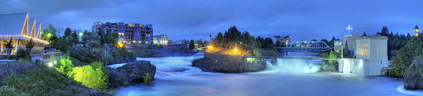 Spokane Poster featuring the photograph Spokane Falls by Michael Gass