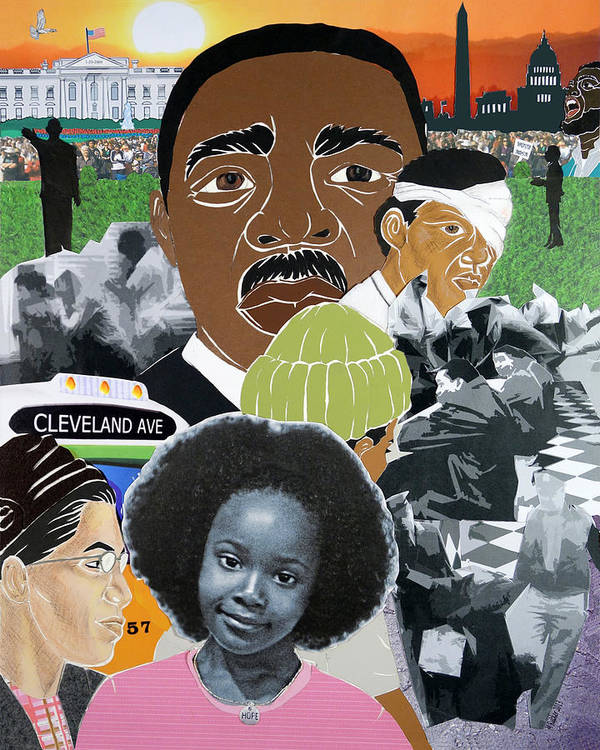 Rosa Parks Poster featuring the mixed media Our Recent Past Revisited - Hope by Martha Rucker