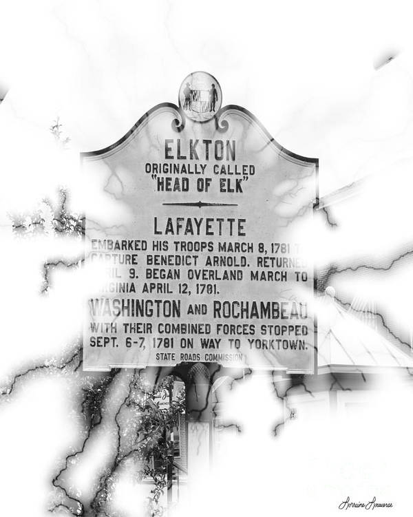 Signs Poster featuring the photograph Elkton Head Of Elk by Lorraine Louwerse
