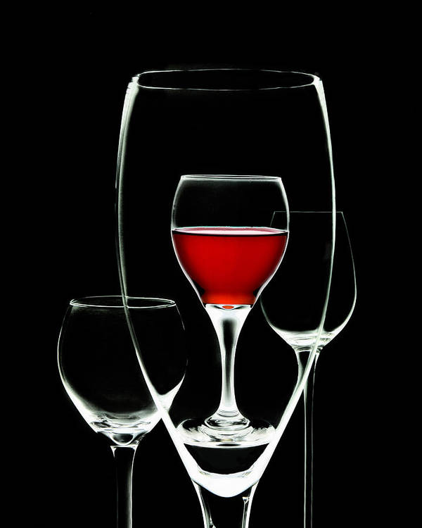 Wine Poster featuring the photograph Glass Of Wine In Glass by Tom Mc Nemar