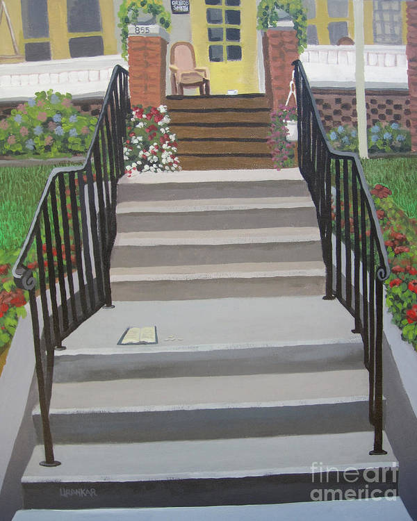 12 Steps Poster featuring the painting Steps To Recovery by Lisa Urankar
