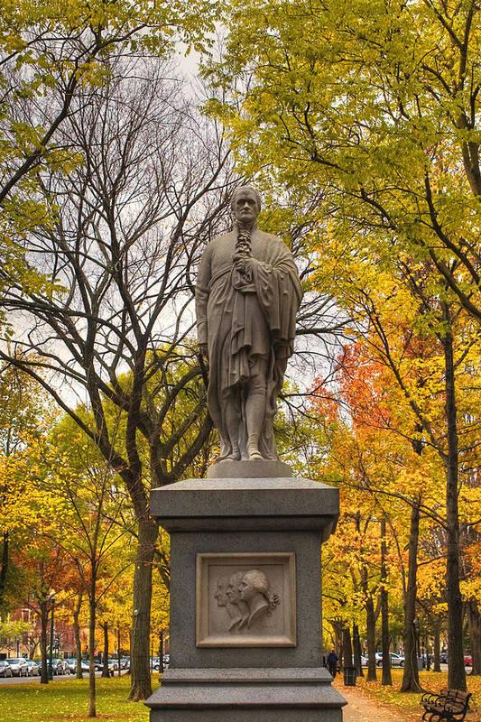 Boston Poster featuring the photograph Alexander Hamilton Statue by Joann Vitali