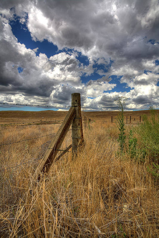 Clouds Poster featuring the photograph Prarie Sky by Peter Tellone