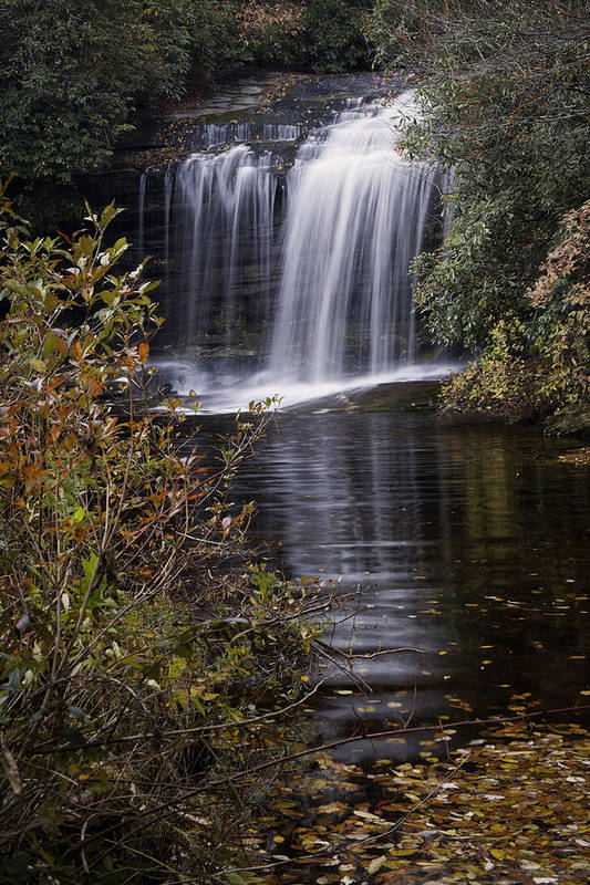 Autumn Poster featuring the photograph Schoolhouse Falls by Rob Travis