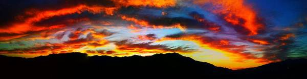 Nature Poster featuring the photograph Desert Sunset 15 by Chris Tarpening
