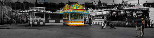 Panorama Poster featuring the photograph Fried Dough by Bob Orsillo