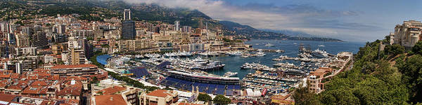 Panoramic Poster featuring the photograph Monaco Panorama by David Smith