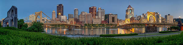 Pittsburgh Poster featuring the photograph Nor'side Pano by Jennifer Grover