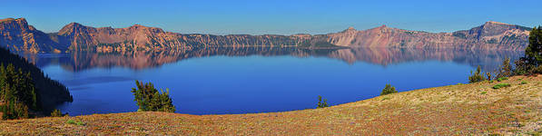 Crater Lake Poster featuring the photograph Big Blue by Greg Norrell