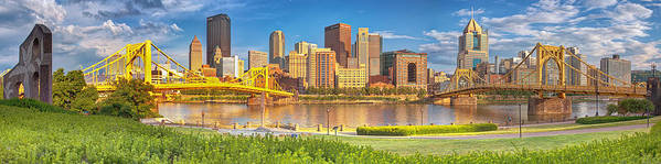 Pittsburgh Poster featuring the photograph Idyllic Afternoon by Jennifer Grover