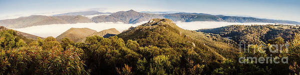 Tasmania Poster featuring the photograph Round Mountain Lookout by Jorgo Photography - Wall Art Gallery