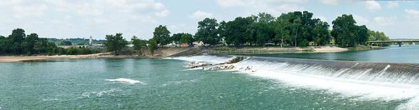 Batesville Poster featuring the photograph Dam At Batesville Arkansas by Douglas Barnett