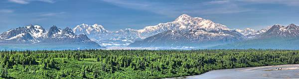 Alaska Poster featuring the photograph Denali Panorama by David Wynia