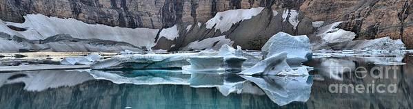 Gacier Iceberg Lake Poster featuring the photograph Montana Icebergs by Adam Jewell