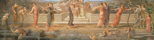 Passing Days Poster featuring the painting Passing Days by John Melhuish Strudwick