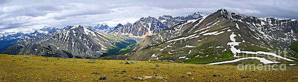 Mountains Poster featuring the photograph Panorama Of Rocky Mountains In Jasper National Park by Elena Elisseeva