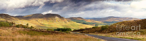 Road Poster featuring the photograph Storm Clouds Over The Glen by Jane Rix