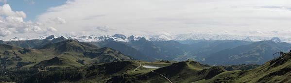 Panorama Poster featuring the photograph Pano Kitzbueheler Horn by Gerald Kloesch