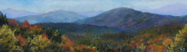 Landscape Poster featuring the pastel Summer's Retreat by Susan Jenkins