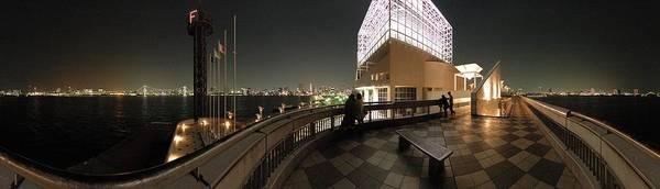 Panorama Poster featuring the photograph Tokyo Bay Nightview From Harumi Port by Alberto Otuyama