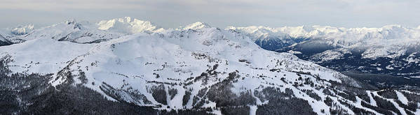 Whistler Poster featuring the photograph Whistler Mountain Panorama by Pierre Leclerc Photography