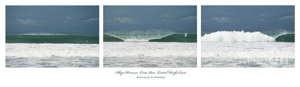 Wave Poster featuring the photograph Playa Hermosa Wave Triptych Central Pacific Coast Costa Rica by Michelle Constantine