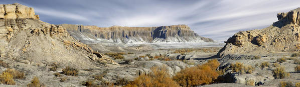 Desert Poster featuring the photograph Utah Outback 43 Panoramic by Mike McGlothlen