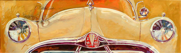 Transportation Poster featuring the painting 1951 Hudson Hornet by Ron Patterson