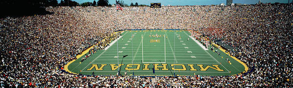 Photography Poster featuring the photograph University Of Michigan Stadium, Ann by Panoramic Images