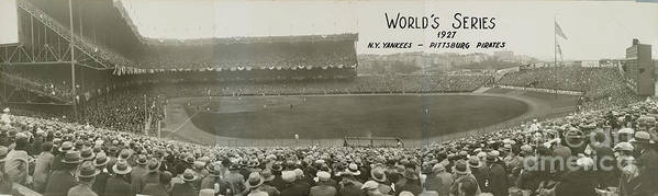 Playoffs Poster featuring the photograph 1927 World Series At Yankee Stadium 1927 by National Baseball Hall Of Fame Library