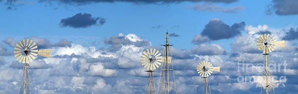 Alternative Poster featuring the photograph Water Windmills by Stelios Kleanthous