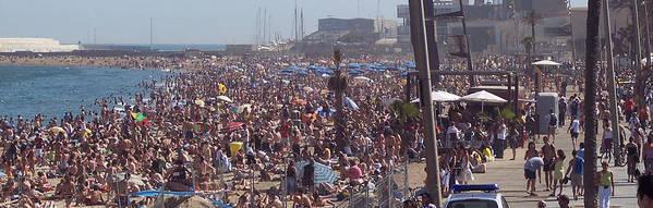 Barcelonetta Beach Poster featuring the photograph Barcelonetta Beach by David Nichols