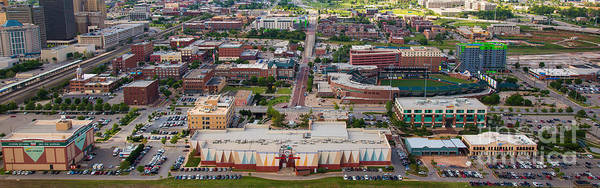 Oklahoma City Poster featuring the photograph Bricktown Ballpark A by Cooper Ross